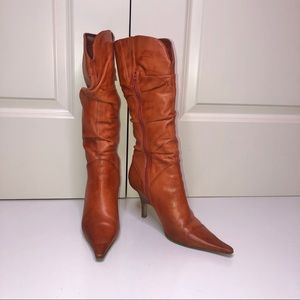 Bakers Slouchy Orange Leather Boots